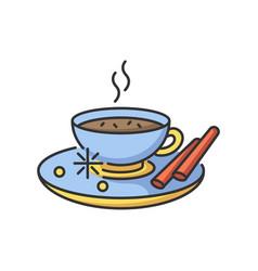 Masala chai rgb color icon vector