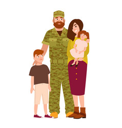 Military man serviceman or soldier dressed in vector