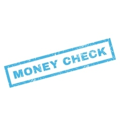 Money Check Rubber Stamp vector
