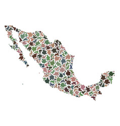 Mosaic map of mexico of pebbles vector