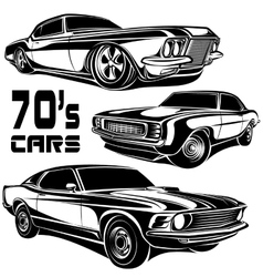 Muscle car poster vector