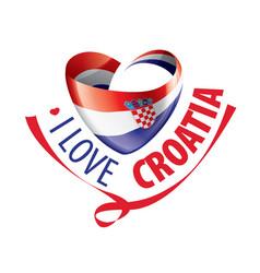National flag croatia in shape vector