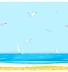 Pattern Beach vector image