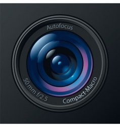 photo camera lens vector image