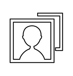 picture user isolated icon vector image