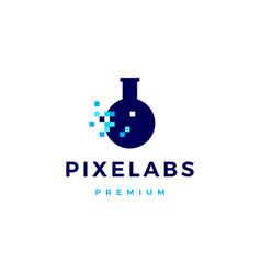 pixel labs digital logo icon vector image