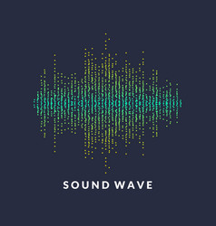poster of the sound wave from equalizer vector image