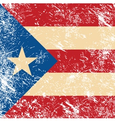 Puerto rico retro flag vector