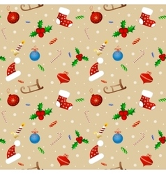 Seamless background pattern Merry Christmas vector image