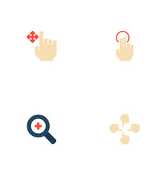 Set of gestures icons flat style symbols with vector