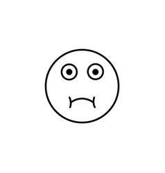 sick emoticon vector image
