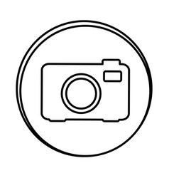 silhouette symbol camera icon vector image