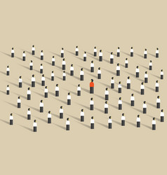 Stand out from crowd leadership different vector
