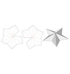 Star shaped die cut template vector