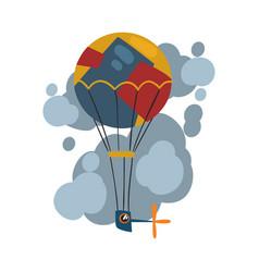 steampunk hot air balloon aerostat antique vector image