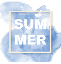 summer background with beautiful watercolor vector image