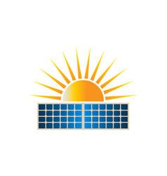 Sun solar dual panel logo clipart vector