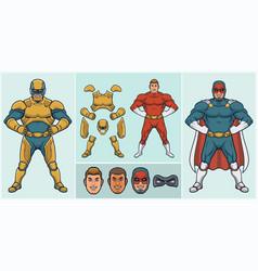 super hero creator vector image