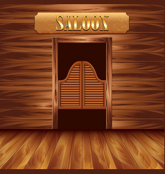 swinging doors saloon western background vector image
