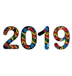 symbol 2019 vector image