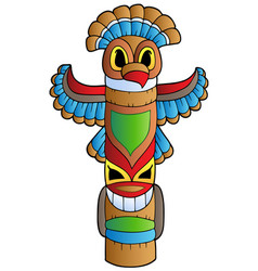 Tall indian totem vector