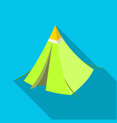 Tent conetent single icon in flat style vector