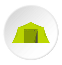 Tent icon circle vector