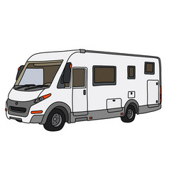 the white large motor home vector image