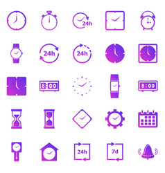 time gradient icons on white background vector image