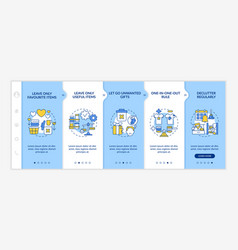 Tips for cleaning apartment onboarding template vector