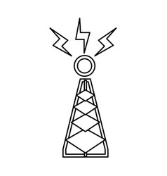 tower antenna trasnmission signal line vector image