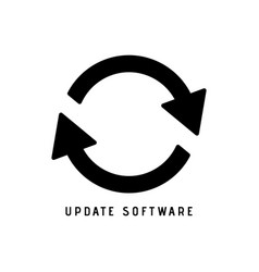 update icon solid vector image