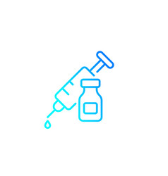Vaccination linear icon vector