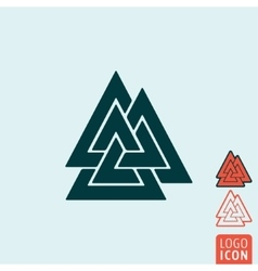 Valknut icon isolated vector