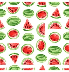 Watercolor watermelon pattern vector