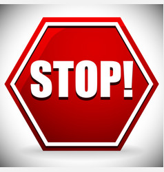word stop on red road sign graphics vector image