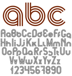 Alphabet letters numbers and punctuation marks vector image vector image