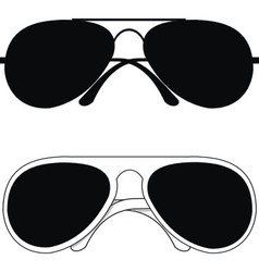 classical sunglasses vector image vector image