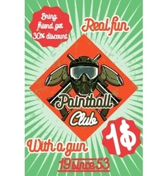 Color vintage paintball poster vector image vector image
