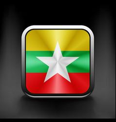 Myanmar flag burma territory state icon vector image