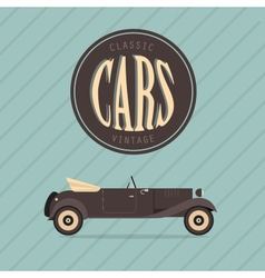 vintage classic car vector image vector image