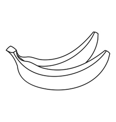 Banana fruit icon outline style vector