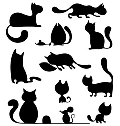 Cat set vector