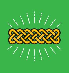 celtic infinity kot design vector image vector image