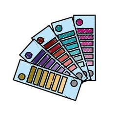 Color palettes painted decoration design vector