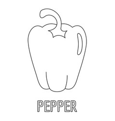 pepper icon outline style vector image vector image