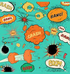 template vintage comic speech bubbles vector image