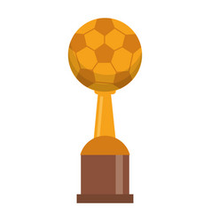 award cup soccer sport vector image