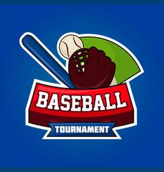 baseball tournament symbol vector image vector image
