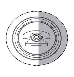 figure emblem sticker color telephone icon vector image